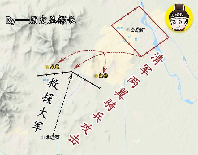 地图上的战争:天意有多可怕?明军援救大凌河,4万大军为之覆灭